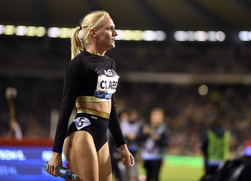 Hanne Claes pictured during the Diamond League meeting in Brussels